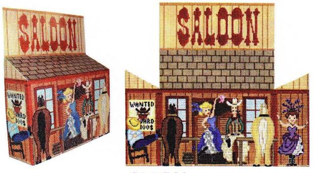 click here to view larger image of Saloon Door Stop (hand painted canvases)