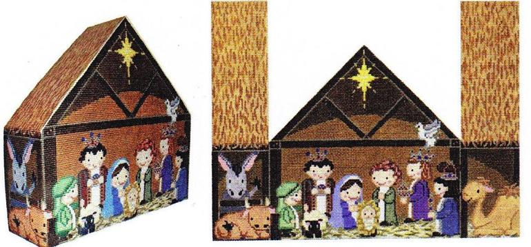 click here to view larger image of Nativity Door Stop (hand painted canvases)