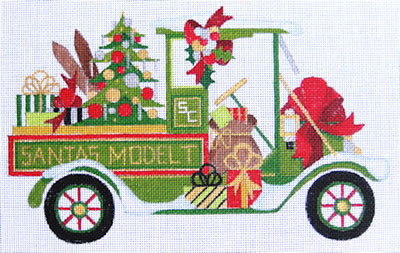 click here to view larger image of Santa's Model T (hand painted canvases)