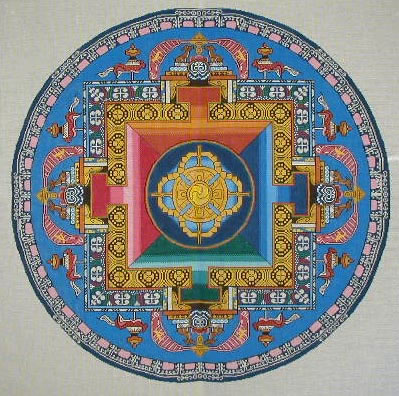 click here to view larger image of Double Dorji (hand painted canvases)