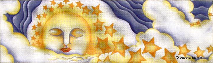 click here to view larger image of Moon and Stars (hand painted canvases)