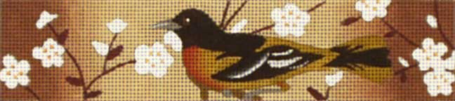 click here to view larger image of Black and Brown Bird Bracelet (hand painted canvases)