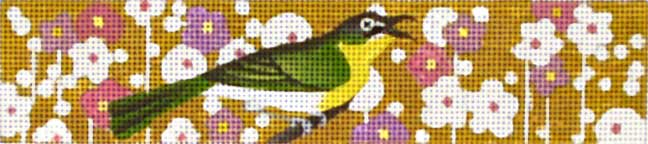 click here to view larger image of Green and Yellow Bird Bracelet (hand painted canvases)