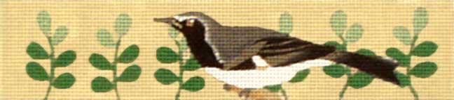click here to view larger image of Black and Gray Bird Bracelet (hand painted canvases)