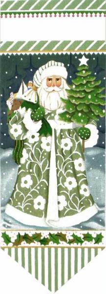 click here to view larger image of Wintergreen Santa Banner (hand painted canvases)