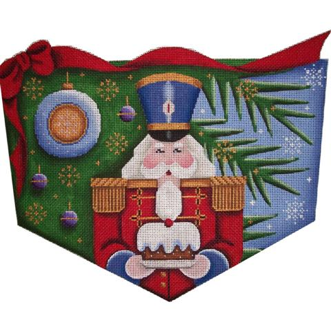 click here to view larger image of Nutcracker Cuff  (13 mesh) (hand painted canvases)