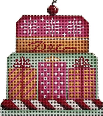 click here to view larger image of December  Baby Cake - 18Mesh (hand painted canvases)