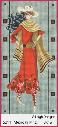 click here to view larger image of Mexicali Mitzi (hand painted canvases)