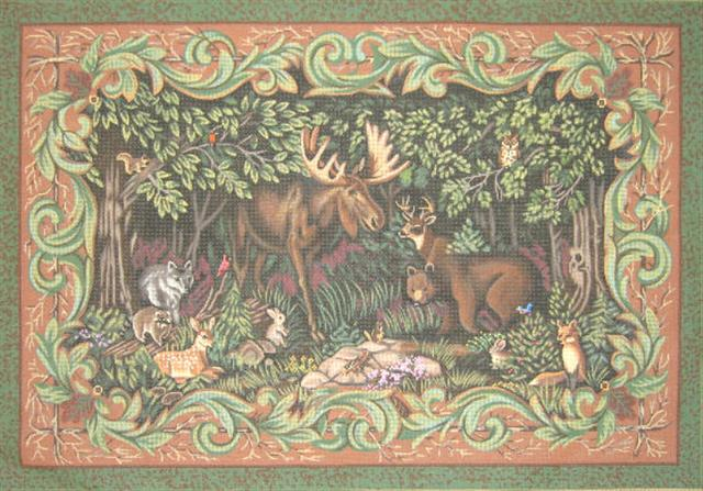 click here to view larger image of Woodland Meadow (hand painted canvases)