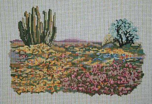 click here to view larger image of A Desert Spring (hand painted canvases)