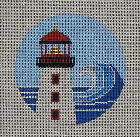 click here to view larger image of Light House Ornament (hand painted canvases)