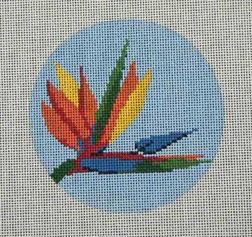 click here to view larger image of Bird of Paradise Ornament (hand painted canvases)
