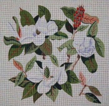click here to view larger image of Magnolias (hand painted canvases)