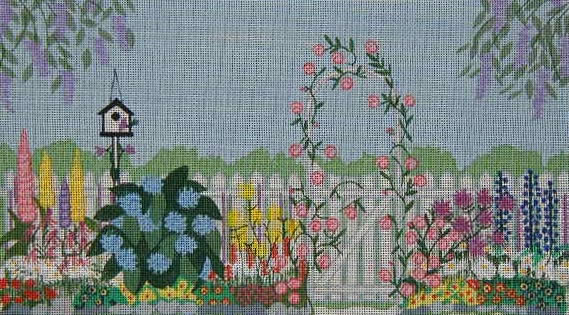 click here to view larger image of The Garden Gate (hand painted canvases)