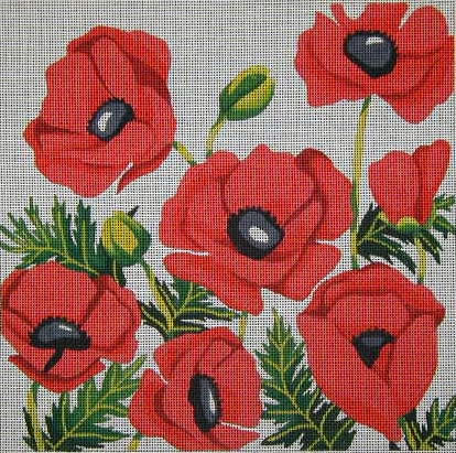 click here to view larger image of Oriental Poppies (hand painted canvases)