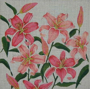 click here to view larger image of Stargazer Lily (hand painted canvases)