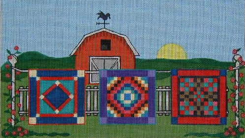 click here to view larger image of Amish Hanging Quilts (hand painted canvases)