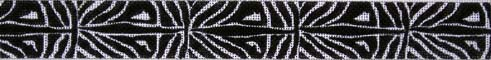 click here to view larger image of Zebra Belt (hand painted canvases)