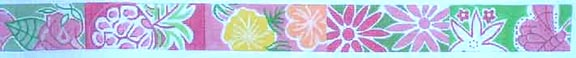 click here to view larger image of Pink Pastel Floral Belt (hand painted canvases)