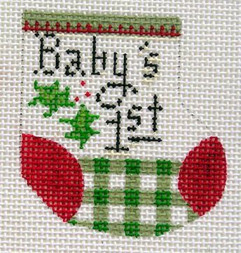 click here to view larger image of Baby Wee Stocking (18 mesh) (hand painted canvases)