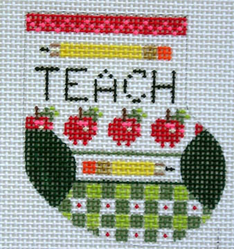 click here to view larger image of Teacher Wee Stocking (18 mesh) (hand painted canvases)