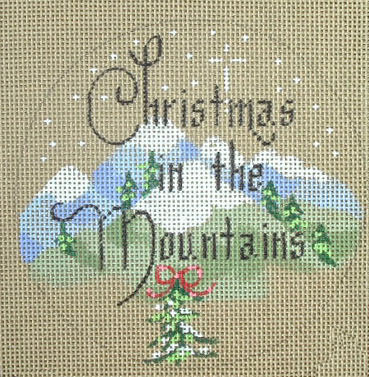 click here to view larger image of Christmas on the Mountains (hand painted canvases)