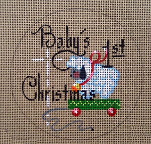 click here to view larger image of Baby's 1st Christmas (Boy) (hand painted canvases)