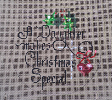 click here to view larger image of A Daughter makes Christmas Special (hand painted canvases)