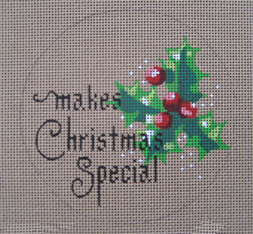 click here to view larger image of __________ Makes Christmas Special (hand painted canvases)