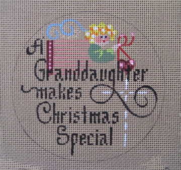 click here to view larger image of A Granddaughter Makes Christmas Special (hand painted canvases)