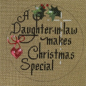 click here to view larger image of A Daughter-In-Law Makes Christmas Special (hand painted canvases)