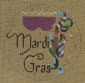 click here to view larger image of Mardi Gras (hand painted canvases)