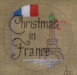 click here to view larger image of Christmas in France (hand painted canvases)