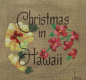click here to view larger image of Christmas in Hawaii (Hibiscus Flower) (hand painted canvases)
