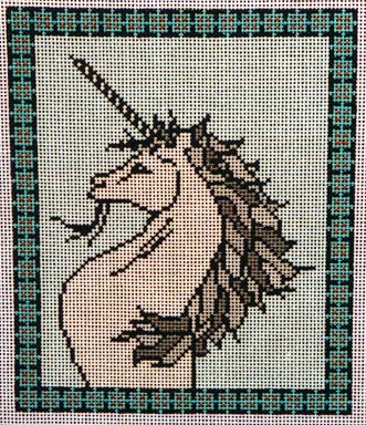 click here to view larger image of Unicorn I (hand painted canvases)