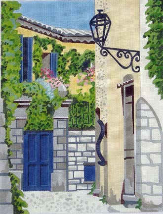 Blue Alley hand painted canvases