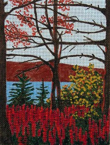 click here to view larger image of Autumn Lake (hand painted canvases)