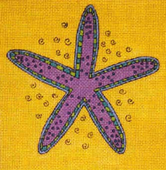 click here to view larger image of Starfish (hand painted canvases)