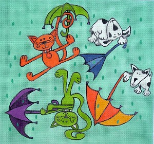 click here to view larger image of Raining Cats and Dogs (hand painted canvases)
