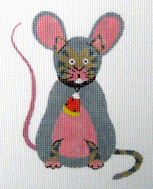 click here to view larger image of Cat in Mouse Costume (hand painted canvases)