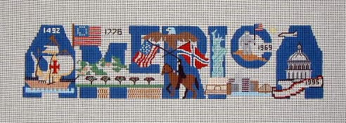 click here to view larger image of America (hand painted canvases)