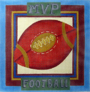 click here to view larger image of Football (hand painted canvases)
