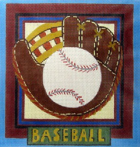 click here to view larger image of Baseball (hand painted canvases)