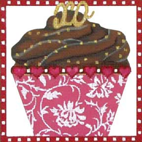 click here to view larger image of Chocolate Cupcake (hand painted canvases)