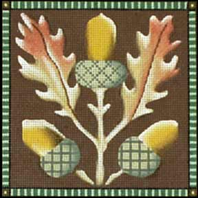 click here to view larger image of Acorns (hand painted canvases)