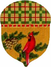 click here to view larger image of Cardinal Acorn (hand painted canvases)