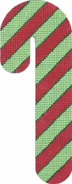 click here to view larger image of Candy Cane - Green and Red (hand painted canvases)