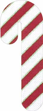 click here to view larger image of Candy Cane - Red and White (hand painted canvases)