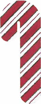click here to view larger image of Candy Cane - Classic Red Stripe (hand painted canvases)