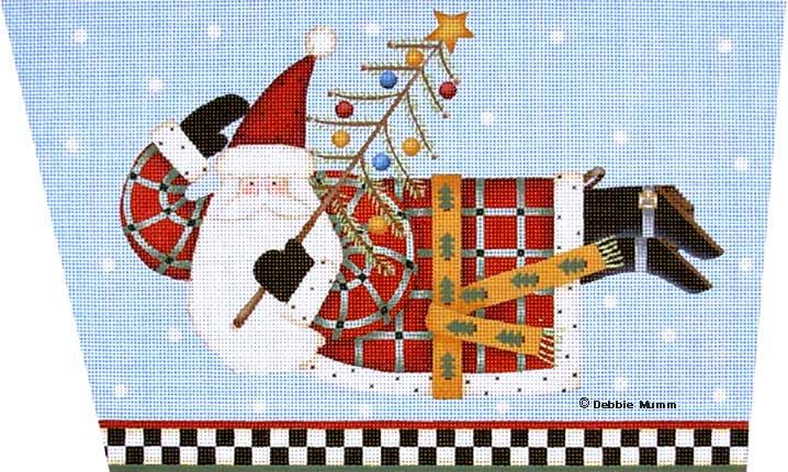 click here to view larger image of Joyous Tidings Santa Cuff (hand painted canvases)
